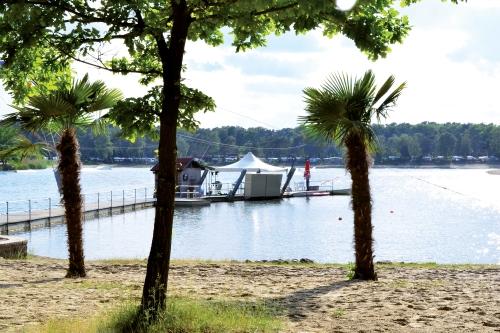 Besonders in den frühen Abendstunden sorgt die untergehende Sonne für eine idylische Stimmung am Blauen See.