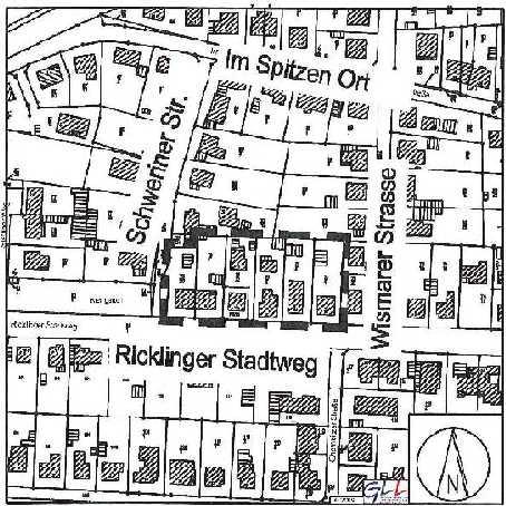 Grafik: Bebauunsplan Nördlich Ricklinger Stadtweg